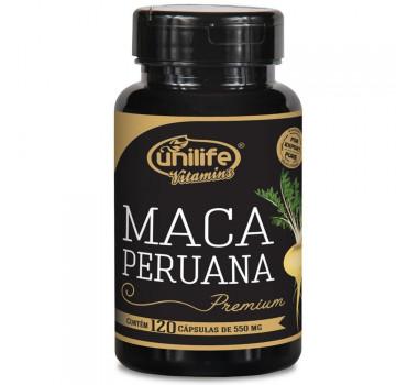 Maca Peruana Premium Pura 550mg 120 Cápsulas Unilife